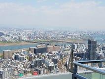 Osaka Umeda Sky Building vanaf de bovenkant royalty-vrije stock foto's