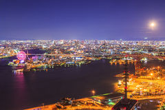 Osaka view at night from Cosmo tower Stock Image