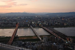 Osaka view from Sky Building Royalty Free Stock Photography