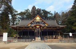 Osaki Hachimangu relikskrin i Sendai arkivbilder