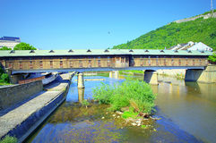 Osam river Covered Bridge Lovech Stock Photo
