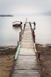 Osamotniona łódź Obraz Royalty Free