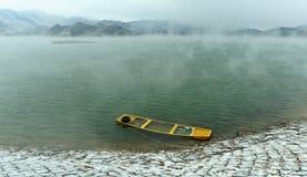 Osamotniona łódź Obrazy Royalty Free