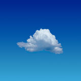 Osamotniona chmura Fotografia Royalty Free