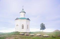 Osamotniona kaplica na Solovki Zdjęcia Stock