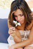 osamotniona kwiat dziewczyna Obrazy Stock