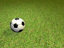 Osamotniona piłki nożnej piłka na sądzie ilustracja wektor