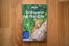 Osamotniona planeta Botswana i Namibia podróż przewodnik Zdjęcie Stock