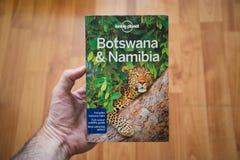 Osamotniona planeta Botswana i Namibia podróż przewodnik Obrazy Stock