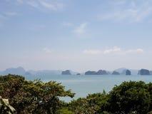 Osamotniona sen plaża przy Thailand koh Yao noi zdjęcie royalty free