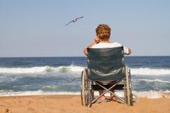 osamotniona starsza kobieta zdjęcie stock