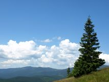 osamotnione góry Obrazy Royalty Free