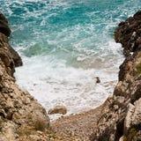 Osamotnione plaże, Dalmatia obraz royalty free