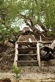Osamotniony Łamający most obraz stock