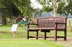 osamotniony ławka park Zdjęcia Stock