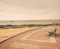 Osamotniony Boardwalk w Punta Del Este Zdjęcia Royalty Free