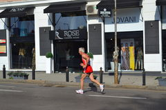 Osamotniony długodystansowy biegacz Obraz Royalty Free
