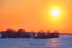 Zima wieczór Obraz Royalty Free