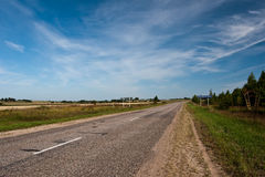 osamotniony drogowy lato Obrazy Stock