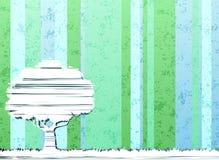 osamotniony drzewo ilustracji