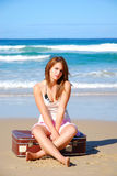 osamotniony dziewczyna wakacje Zdjęcia Stock