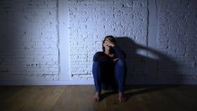 Osamotniony kobiety cierpienie od depresji zbiory