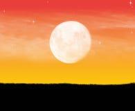 Osamotniony księżyc sposób Zdjęcie Royalty Free