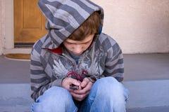 osamotniony nastolatek Fotografia Royalty Free