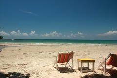 Osamotniony plażowy awesomeness obraz stock