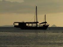 osamotniony statek Fotografia Royalty Free