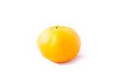 Osamotniony Tangerine na Białym tle (mandaryn) Obraz Royalty Free