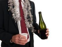 Osamotniony ten Boże Narodzenia - samotnie biznesowy mężczyzna Fotografia Stock