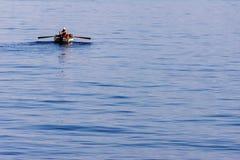 Osamotniony turecki rybak na morzu Izmir Fotografia Royalty Free