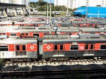 CPTM train parking royalty free stock photos
