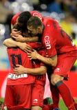 Osasuna players celebrating goal Royalty Free Stock Photography