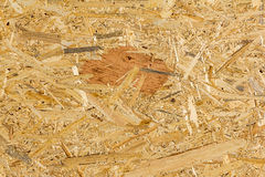 OSB material Texture - Recycled compressed wood chippings board Stock Photos