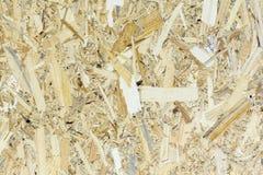 OSB materialna tekstura - przetwarzający ściśnięty drewnianych goleń talerz, sklejkowa tekstura obraz stock