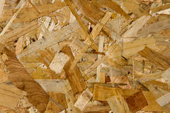 OSB sheet structure Royalty Free Stock Photography