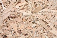 OSB texture, recycled material for furniture, empty background Royalty Free Stock Photos