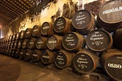 Osborne雪利酒Bodega,西班牙 库存图片