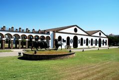 Osborne Bodega, El Puerto De Santa Maria Obrazy Royalty Free