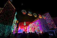 The Osborne Family Spectacle of Dancing Lights. At Hollywood Studios in Disney World, Orlando, Florida, December 16th 2009 Stock Photography