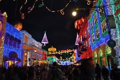 The Osborne Family Spectacle of Dancing Lights at Disney Hollywo Royalty Free Stock Photography
