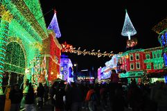 The Osborne Family Spectacle of Dancing Lights at Disney Hollywo Royalty Free Stock Photos