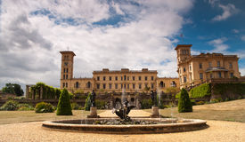 Osborne House, and fountain Royalty Free Stock Photo