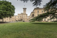 Osborne House Isle of Wight. Osborne House is a former royal residence in East Cowes, Isle of Wight, United Kingdom. The house was built between 1845 and 1851 stock image