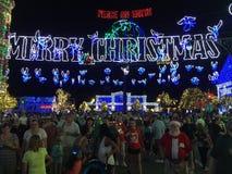 Osborne-Weihnachtslichter an Hollywood-Studios, Orlando, FL Lizenzfreies Stockbild