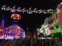 Osborne-Weihnachtslichter an Hollywood-Studios, Orlando, FL Stockbild