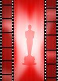 Oscar awards. Illustration of the red carpet and Oscar awards Stock Photography