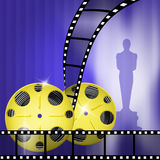 Oscar awards. Illustration of the red carpet and Oscar awards Stock Images